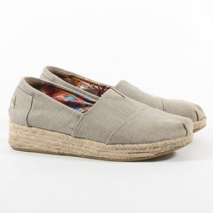 Womens Skechers Bobs Espadrille Wedge Canvas Shoes